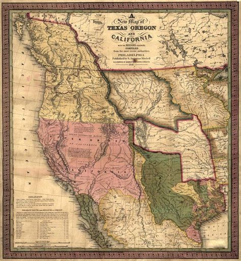 texas territory map california territory map