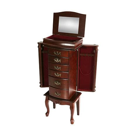 jewelry armoire under 50 medium mahogany jewelry armoire 6408522 hsn