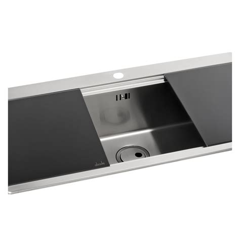 Abode Logik 1 0 Bowl Sink Without Drainer Sinks Taps Com Kitchen Sink Drainer