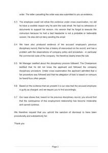 example of a closing statement document labour law