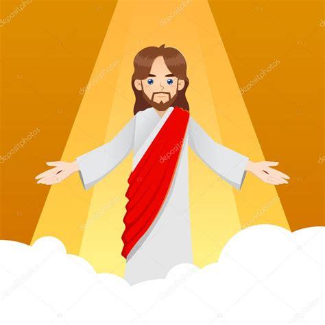 imagenes religiosas catolicas en caricatura jes 250 s cristo en las nubes vector de stock 169 yusak p