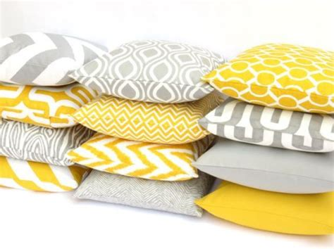 yellow couch cushions picture of yellow and grey mix and match pillows are a