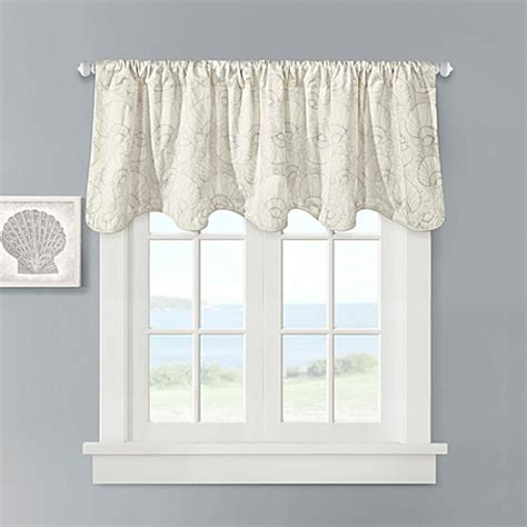 Scalloped Valances For Windows Decor Buy Harbor House Scallop Valance In Ivory From Bed Bath Beyond