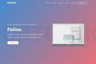 foliou premium bootstrap portfolio template for