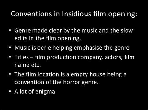 insidious movie genre film opening analysis on insidious