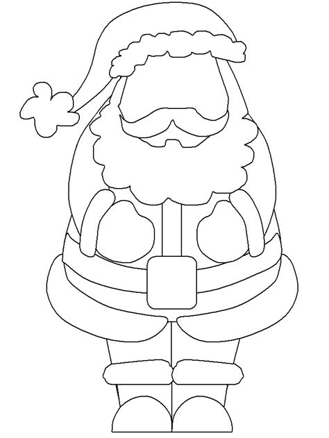 Santa Claus Template templates for santa claus coloring pages