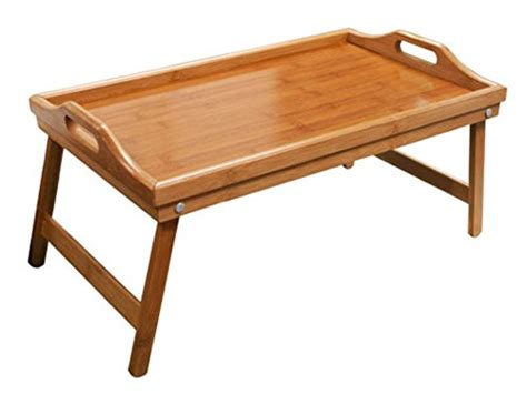 basic table bed tray hometown basics folding bamboo bed tray table high