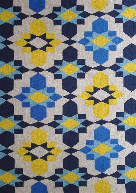 Contemporary Indoor Outdoor Rugs Indoor Outdoor Blue Yellow Area Rug Contemporary Outdoor Rugs By Rug Addiction