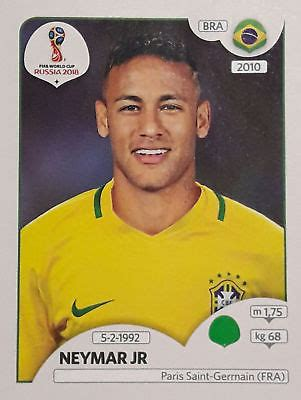 neymar world cup 2018 neymar jr fifa world cup russia 2018 sticker panini