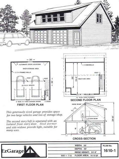 garage with loft floor plans ez garage plans