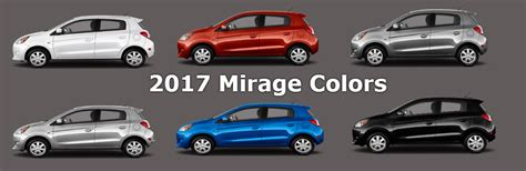 Mirage Color 2016 mitsubishi mirage colors