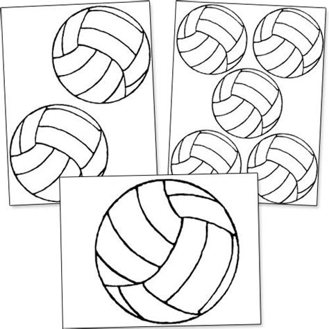 free printable volleyball pictures printable volleyball template volleyball pinterest