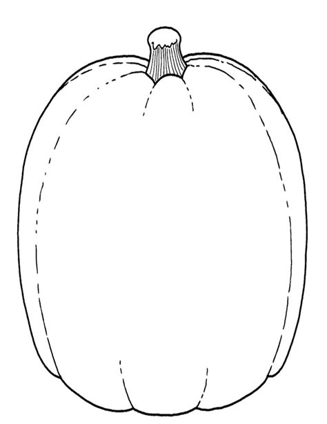 blank pumpkin template free coloring pages of pumpkin shape