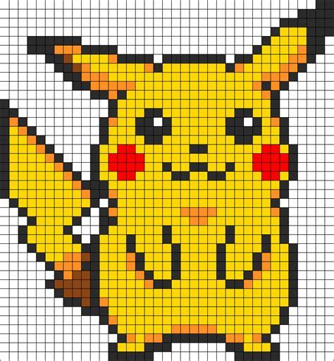 pikachu template pikachu perler bead pattern bead sprites characters