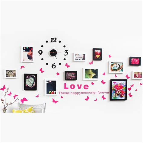 wall collage set stylish wall decor collage photo picture 12 frame holds