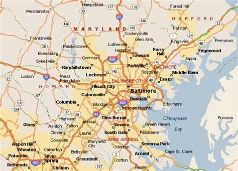 maryland area map baltimore metro map toursmaps