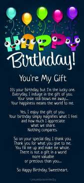 I Love You Birthday Quotes by 12 Happy Birthday Love Poems For Her Amp Him With Images