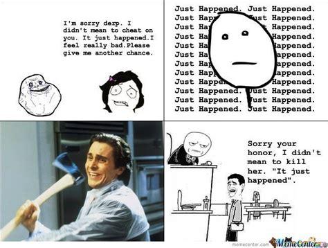 Christian Bale Axe Meme - just happened by sambam9 meme center