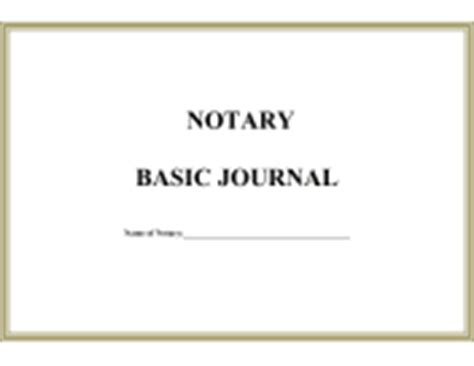 Notary Forms Notary Journal Template