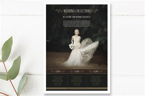 Wedding Photography Brochure Templates Free by Free Wedding Photography Price List Flyer Templates