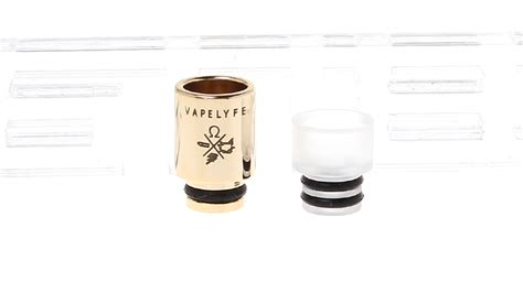 Stainless Steel Pom 510 Drip Tips Gold Plated 2 05 stainless steel acrylic 510 drip tip gold plated