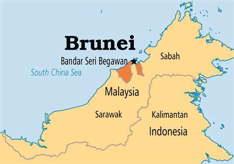 brunei on the world map brunei operation world