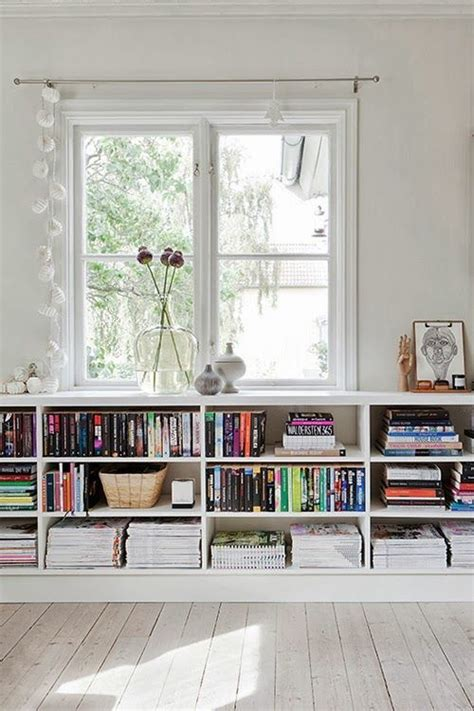 bookshelves the window home