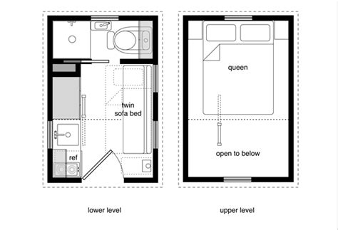 tiny house floor plans with lower level beds tiny house