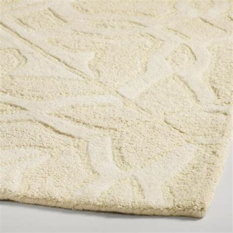carved wool rugs ivory classic carved wool rug world market
