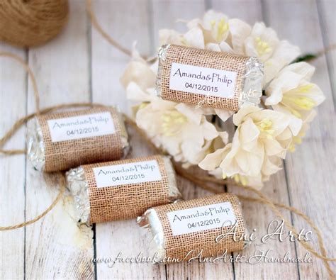 wedding supplies burlap wedding favors mini hershey wrapper custom diy country
