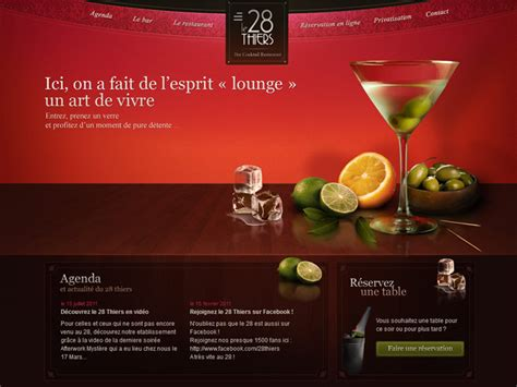 website top bar design tasty design restaurant and catering websites