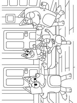 Kids-n-fun.com | 19 coloring pages of Bluey