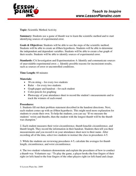 Can You Spot The Scientific Method Worksheet Answers by 28 Scientific Method Worksheets With Answer
