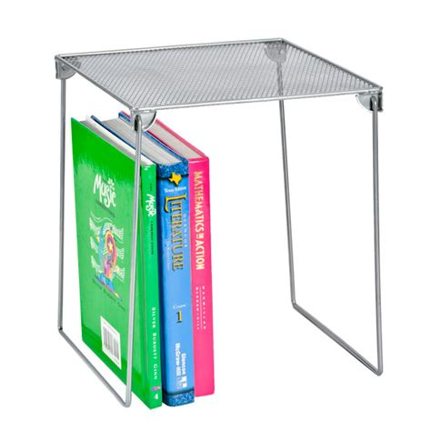 silver mesh locker shelf the container store