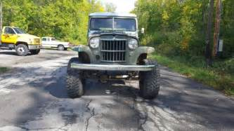jeep willys wagon lifted 1955 jeep willys wagon v8 overdrive lifted hotrod ratrod