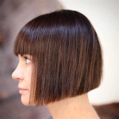 blunt sleek bob 50 classy short bob haircuts and hairstyles with bangs