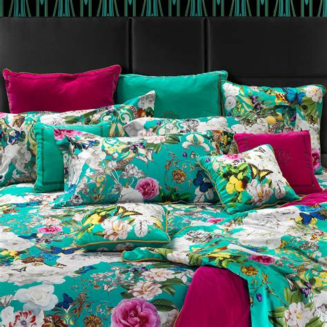 Teal Duvet Cover King Buy Roberto Cavalli Blaze Duvet Set King Teal