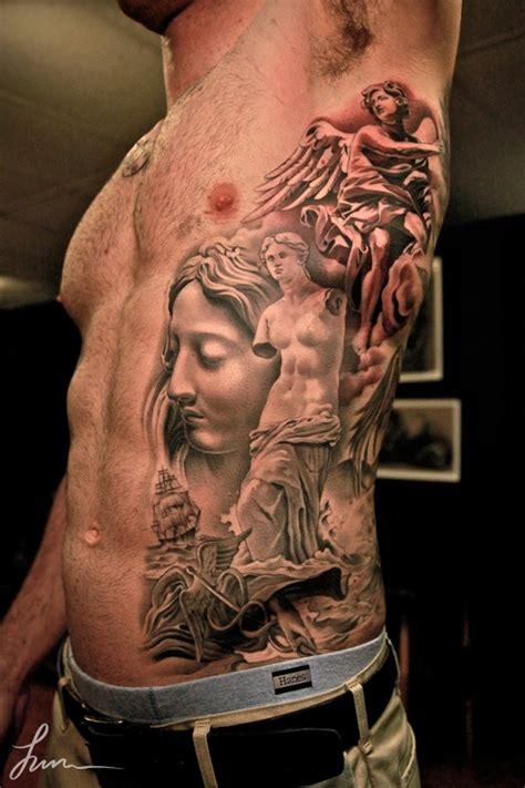 renaissance tattoo in renaissance style on ribs tattooimages biz