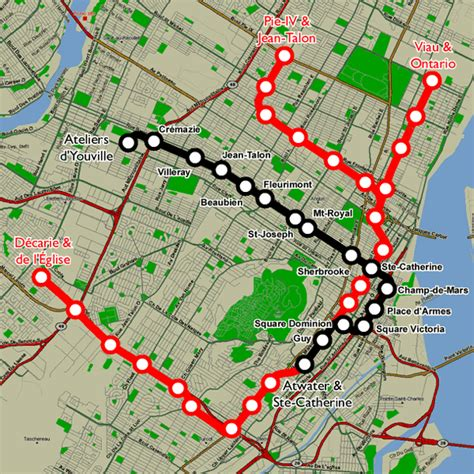 montreal metro map montreal subway map travelsfinders