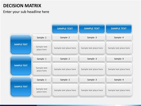 powerpoint decision matrix sketchbubble
