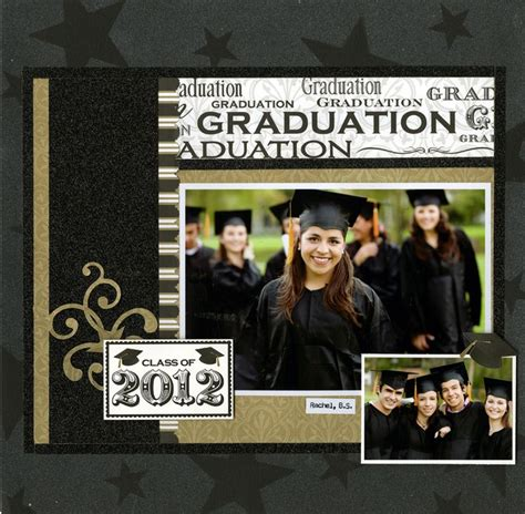 scrapbook layout graduation pin by canadian scrapbooker magazine on scrapbook layouts