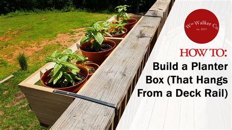 planters for deck rails how to build a planter box to hang from a deck rail