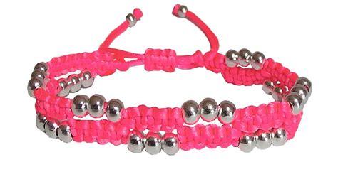 nudos pulseras hilo pulseras en macrame con perlas