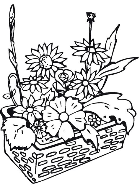 coloring pages of flowers and plants plants and flowers coloring pages 15794 bestofcoloring