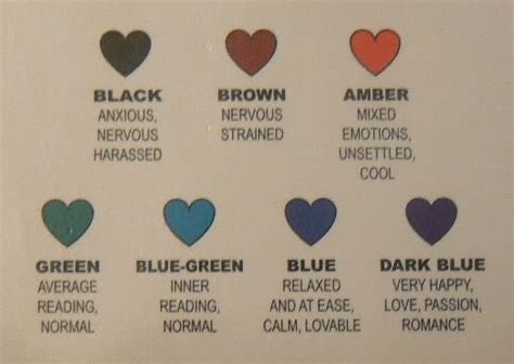 blue mood meaning mood necklace colors meanings colours meanings