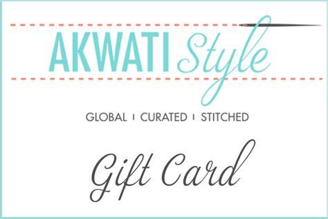 Global Giving Gift Card - akwati style gift card akwati style