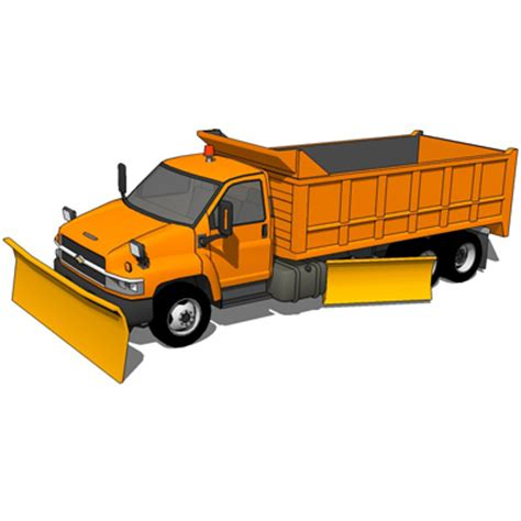 snow plow truck 3d model formfonts 3d models & textures