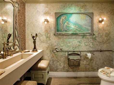 unconventional bathroom themes nouveau inspired bath hgtv