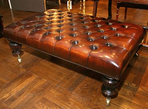 Ottoman Coffee Table Leather Leather Tufted Ottoman Coffee Table Coffee Table Design Ideas