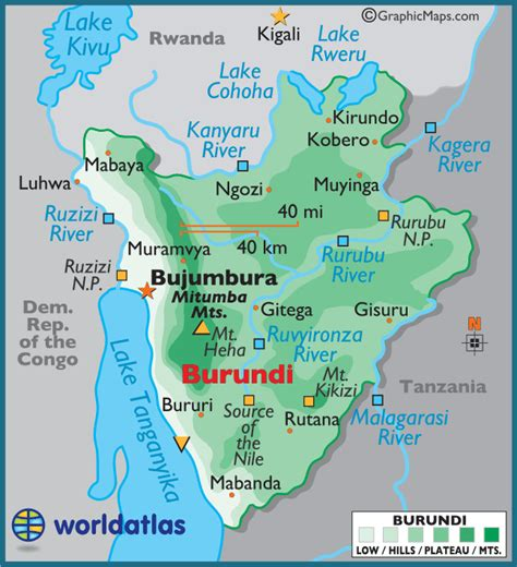 burundi map maps of burundi